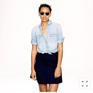 J crew keeper Chambray shirt size 8